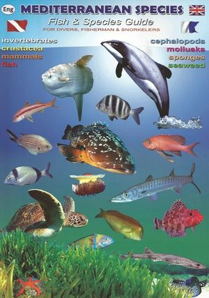MEDITERRANEAN SPECIES FOR DIVERS, FISHERMAN & SNORKELERS DESPLEGABLE