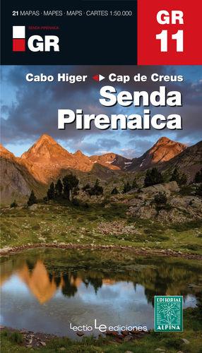 GR 11 - SENDA PIRENAICA. DEL CABO HIGER AL CAP DE CREUS. 1:50.000. 21 MAPAS.