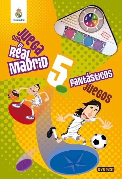 JUEGA CON EL REAL MADRID. 5 FANTÁSTICOS JUEGOS. LIBRO DE CARTÓN GIGANTE