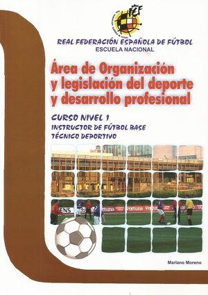 ÁREA DE ORGANIZACIÓN Y LEGISLACIÓN DEL DEPORTE Y DESARROLLO PROFESIONAL N-1º