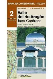 VALLE DEL RÍO ARAGÓN JACA-CANFRANC MAPA EXCURSIONISTA 1:40.000