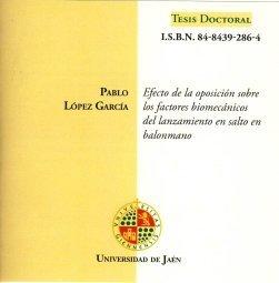 CD. EFECTO DE LA OPOSICION SOBRE LOS FACTORES BIOMECÁNICOS DE LANZAMIENTO EN SALTO EN BALONMANO