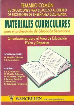MATERIALES CURRICULARES PARA EL PROFESORADO DE E.F. 2 VOL TEMARIO