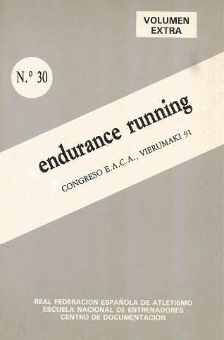CUADERNO DE ATLETISMO Nº 30 ENDURANCE RUNNING