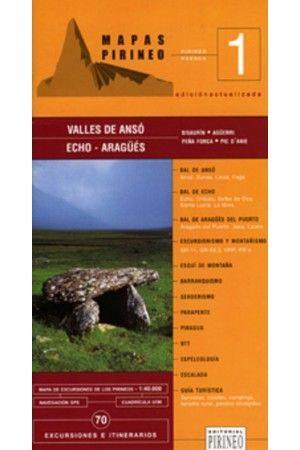 VALLES DE ANSO, ECHO Y ARAGUES. MAPA 1:40.000