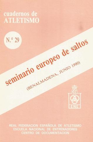 CUADERNO DE ATLETISMO Nº 29 SEMINARIO EUROPEO DE SALTOS